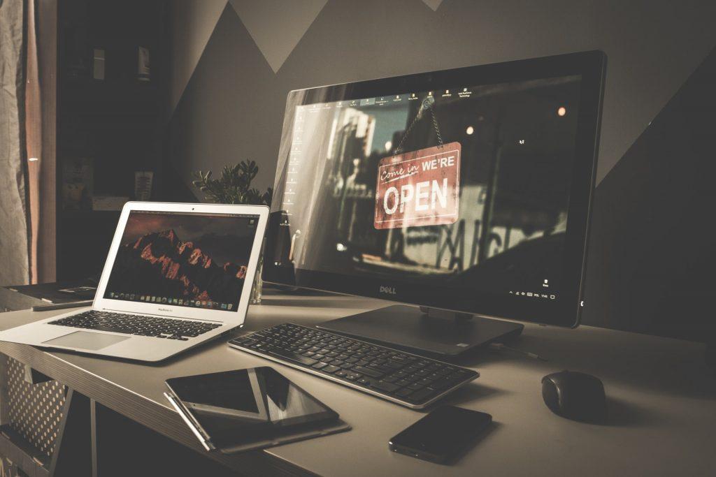 tech items on a desk