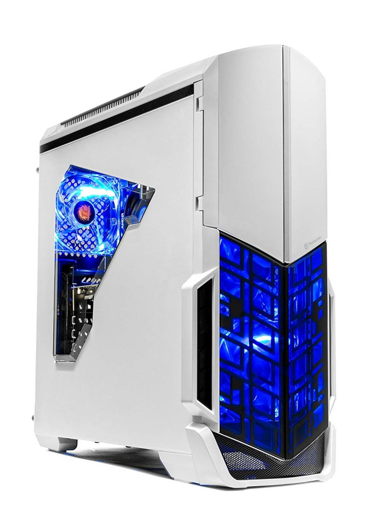blue and white gaming device